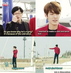 Kim Woo Bin on Running Man = hilarity every. single. time.