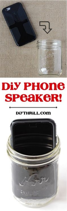 DIY Phone Speaker Trick!  Go check out this simple little mason jar trick... such a frugal solution, and it works like a charm!