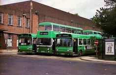 London Country North East buses outside St Albans Garage on July The garage, buses and livery have now all gone. Vehicles include Leyland Atlantean and Leyland Nationals and New scan from negative, February 2012 Inverter Generator, St Albans, London Transport, Garages, Buses, Past, Transportation, British, Memories