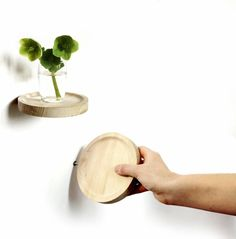 Round wall shelf with invisible mounting / / / French design / / / Decorative solution to a vase or picture.