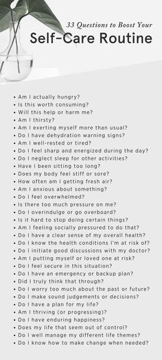 Self-care tips: 11 self-care activities to build into your routine — Minimalism 33 Questions to Boost Your Self-care Routine. This guide outlines the core elements of health and wellness to assist you in developing a holistic self-care pla Health And Wellness Quotes, Health And Wellbeing, Wellness Tips, Wellness Plan, Holistic Wellness, Health Goals, Health Motivation, Health Benefits, Health Fitness