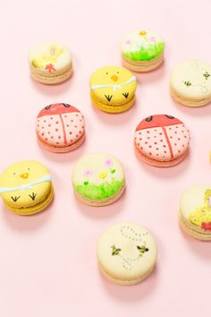 painted macarons for easter