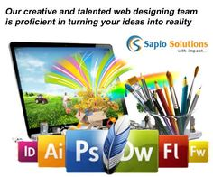 Our creative and talented web designing team is proficient in turning your ideas into reality. #webdesign #websitedesigning #webservices www.sapiosol.com