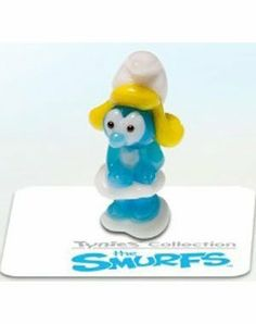 SMURFETTE - Tynies Miniature Glass Figurine by Tynies. $6.85. This is for one figure. This tiny glass figure is one of the many charming collectable glass animals by Tynies. Even though they are extra small, approximately 3/4 inch to 1 inch size, they make a big impact. Whimsical in design, they glisten in the light. Children of all ages will love to own their own glass menagerie. Great idea for party favors, gifts, and collectibles. For ages 8 and up. Colors an...