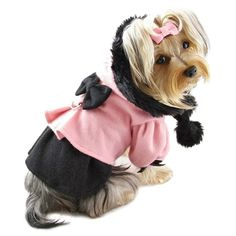 Princess Dress Coat on Sale for only $22.00 was $32.00.  See more dog clothes in my pet boutique.  Every purchase helps animals in need.