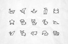 Vektor-Origami-Tier-Ikonen - tattoos for the soul - Animals Mini Tattoos, Trendy Tattoos, Cute Tattoos, Body Art Tattoos, Small Tattoos, Small Animal Tattoos, Small Fox Tattoo, Tatoos, Fox Tattoos