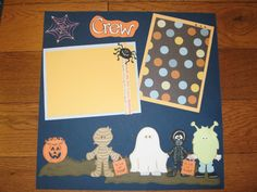 Halloween scrapbook layout dbl pg layout when you open it