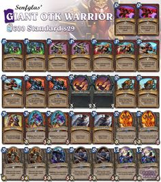 OTK Warrior adds Grim Patron and trades Worgen for Arcane Giant #Hearthstone #StandardWarrior