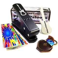 Amazon.com: Pick-a-Palooza DIY Guitar Pick Punch Mega Gift Pack - the Premium Pick Maker - Leather Key Chain Pick Holder, 15 Pick Strips and a Guitar File - Black: Musical Instruments | @giftryapp