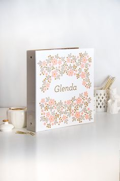PERSONALIZED Floral Patterned Binder - Secret Garden