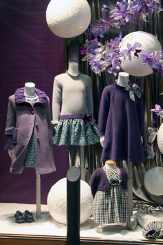 Olga store front window at Christmas ~
