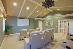 Movie theater at Maple Bay Townhomes
