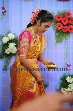 Bride in Pink Heavy Work Blouse | Heavy work bridal blouse designs ...
