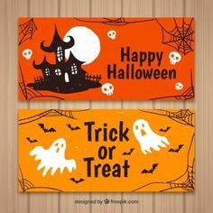 More than a million free vectors, PSD, photos and free icons. Exclusive freebies and all graphic resources that you need for your projects Sac Halloween, Halloween Infantil, Halloween Logo, Halloween Chalkboard, Happy Halloween Banner, Halloween Ribbon, Halloween Silhouettes, Halloween Poster, Halloween Prints