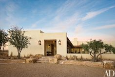 """""""I wanted a hacienda-type house,"""" says Turner. """"I like Mexican architecture."""""""