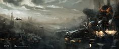 EVE Online: Minmatar City  Concept art by Georg Hilmarsson.  #sciencefiction #scifi