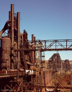 Blast Furnace and Bridge, Ohio, 2012  http://www.seangalbraith.com/industrial-exterior/