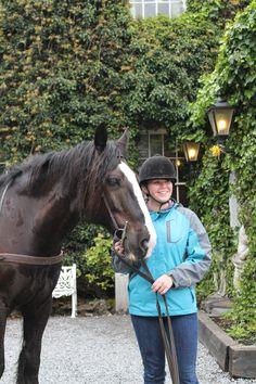 Amanda and Midnight. Trek, Riding Helmets, Amanda, Ireland, Castle, Horses, Horse, Irish, Palace