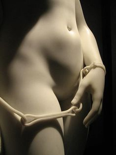 """The Greek Slave"" (detail) -- 1844 -- Hiram Powers -- American (statue carved in Florence) -- Raby Castle, UK."