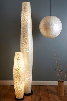 Unique Design White Capiz Floor Lamp by Collectiviste on Etsy