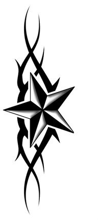 Nautical star tattoo design