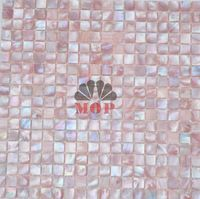Factory direct sale sea shell mosaic mother of pearl  tiles  natural pink mesh-joint with seam hot sale free shipping