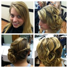 Homecoming hair , Prom hair , Bridesmaid hair  , Hair By Rochelle Noone On location bridal hairstylist Pittsburgh Pa .