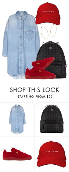 """Untitled #240"" by simoneswagg ❤ liked on Polyvore featuring MCM and Puma"