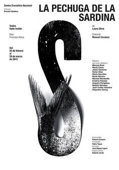 """Centro Dramático Nacional"". Posters from Isidro Ferrer. Spain. Bienal del Cartel Bolivia BICeBé® 2015"