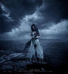 and I sail the sea where our souls always , fell asleep . wash in a whir. Alone inside . Sad Girl Art, Sad Art, Gothic Photography, Reflection Art, Gothic Fantasy Art, Beautiful Dark Art, Underwater Art, Victorian Goth, Dark Thoughts
