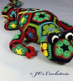 Ravelry: Gaudí the African Flower Salamander pattern by JOs Crocheteria