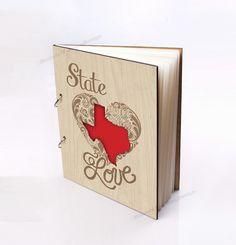 Wood Wedding Guest Book State Of Texas Bridal Shower Al Custom Advice