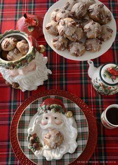 Bourbon-Pecan-Gingerbread Cookies with Bourbon Glaze