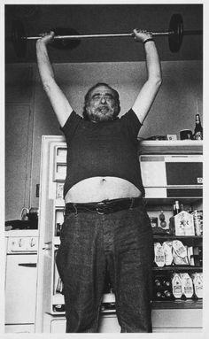 Charles Bukowski, 1989, byJoan Levine Gannij