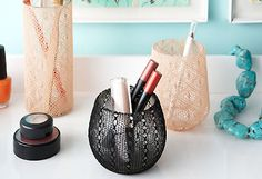 Reuse old tights to make femme storage vases