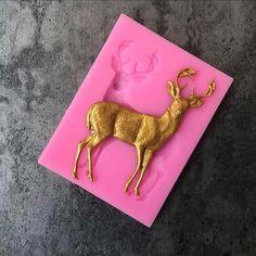 Deer//Stag Moule Silicone//moule-Noël Icing//résine-Cake Topper-Noël Magique