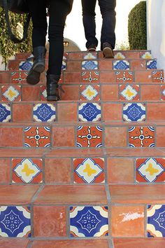 Spanish tile stairs at Ojai Valley Inn | The Gather Guide to Ojai