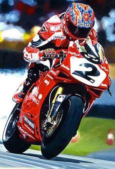 "Cabeça Motorizada — ""Against The Odds"" Carl Fogarty. Ducati 996, Moto Ducati, Ducati Cafe Racer, Ducati Motorbike, Ducati Superbike, Racing Motorcycles, Yamaha, Ducati Sport Classic, Valentino Rossi"