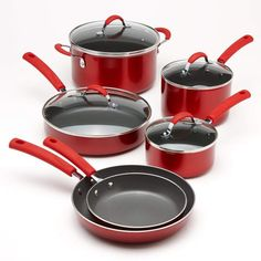 Food Network 10pc. Nonstick Ceramic Cookware Set For