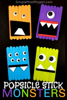 Looking for a fun, DiY Halloween party decoration for kids to make? Click now for a cheap, popsicle stick Monster Halloween craft tutorial. Diy Crafts To Do At Home, Crafts For Teens To Make, Fun Diy Crafts, Halloween Crafts For Kids, Halloween Party Decor, Craft Stick Crafts, Halloween Diy, Trendy Halloween, Plate Crafts