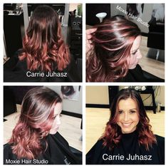 Rose Gold Balayage Hair by Carrie Juhasz, Moxie Hair Studio