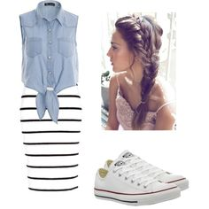 Casual by joigregg on Polyvore featuring polyvore fashion style River Island Converse