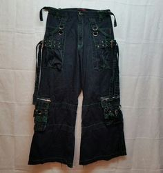 TRIPP pants - black/green size L