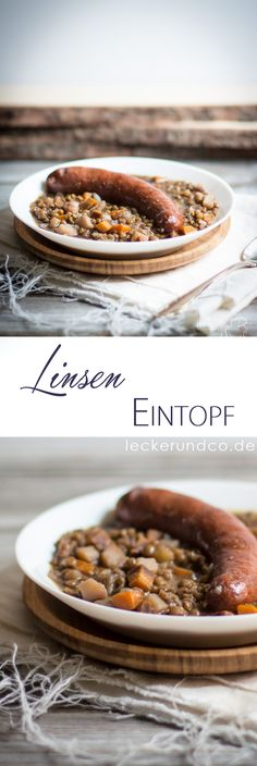 Linseneintopf Oven Dishes, Baking Recipes, Soup Recipes, Baby Food Recipes, Diy Food, Bavarian Recipes, Bavarian Food, German Recipes, Tasty