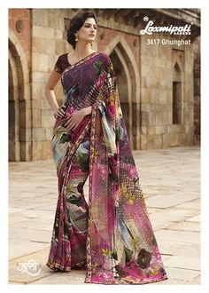 Drape this multi color printed saree,... you can create your new style statement among your circle.