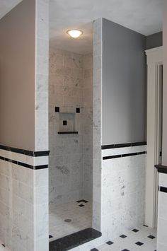 Bathroom Designs No Tiles showers without doors or curtains | walk in shower - mediterranean