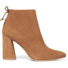 Stuart Weitzman Grandiose suede ankle boots (7 020 UAH) ❤ liked on Polyvore featuring shoes, boots, ankle booties, camel, ankle boots, suede high heel boots, camel booties, camel ankle boots and stuart weitzman booties