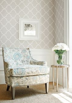 love the colors in this chair Carolyn Trellis from Caravan Collection