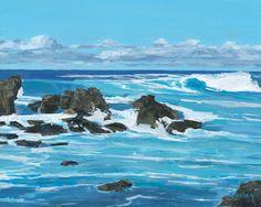 Ho'okipa Maui Island surf wave Hawaii 8 x by StacyVosbergFineArt