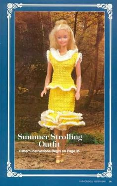 Barbie, Fashion Doll, CROCHET, Summer Stroll Outfit, pattern, http://knits4kids.com/collection-en/library/album-view?aid=1899